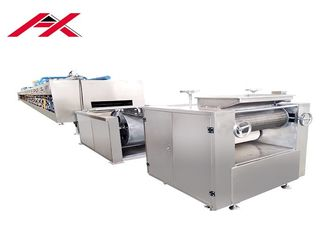 Safe Operated Automatic Biscuit Making Machine Stainless Steel Frame